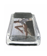 "Beach Pin Up Girls D9 Glass Square Ashtray 4"" x 3"" Smoking Cigarettes - $12.82"