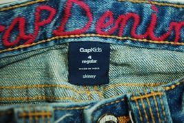 Gap Kids Girl's Jeans Size 4 Regular - 99% Cotton Embroidered Back Pockets Pink image 6