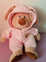 "2007 Ty Pluffies Love To Baby Bear Bunny Ears PJ Pink 12"" Plush Non Removable - $25.62"