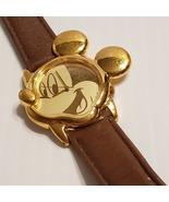 Mickey Mouse Watch Lorus V401-5700 Gold Tone Mickey Head & Ears  - $18.00
