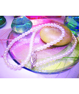 Haunted NECKLACE PSYCHIC SPIRIT COMMUNICATION WITCHS HEART MAGICK PEARL ... - $57.77