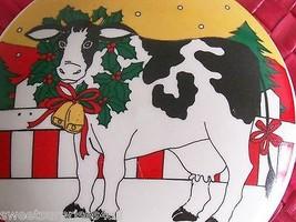 Vintage Cow Box Studio Nova Round Trinket Christmas  - $24.75