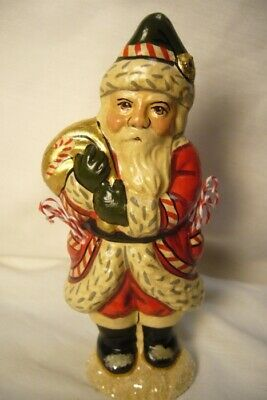 Vaillancourt Candy Cane Santa with Gold Bag personally signed by Judi!