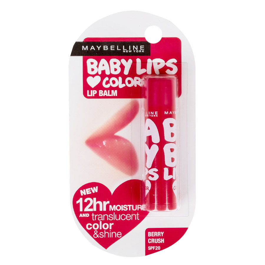 Maybelline Baby Lips Blam Translucent Color Shine Moisture SPF20 Berry Crush