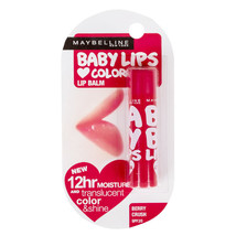 Maybelline Baby Lips Blam Translucent Color Shine Moisture SPF20 Berry C... - $6.48