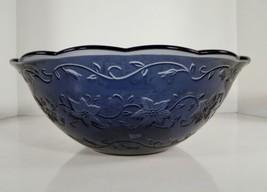 "Princess House FANTASIA 5238 Sapphire Blue Crystal Bowl 11"" Scalloped Rim - $39.55"