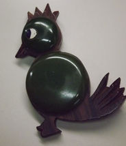 Carved Wood Bird with Bakelite Pin  - $60.00