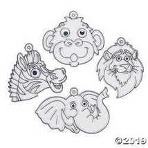 Zoo Animal Suncatchers with Googly Eyes - $12.49