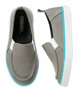 Nwt Gymboree und Schilde Sails Grau Zum Reinschlüpfen Sneakers Größe 12 - $119.32