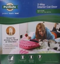 "PETSAFE CAT 2-WAY FLAP CAT DOOR CATS Up To 15 LB, 5.8"" X 5.8"" - $17.32"