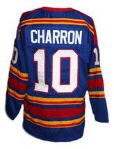 Any Name Number Kansas City Retro Hockey Jersey New Sewn Charron Any Size image 5