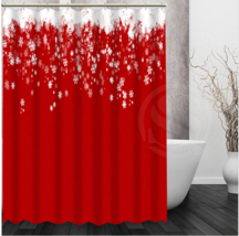 Christmas Natal 09 Shower Curtain Waterproof Polyester Fabric For Bathro... - $33.30+