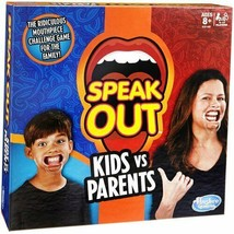 Hasbro Speak Out Kids Vs Parents Game Factory Sealed Game Night Fun 4-10 Players - $16.70
