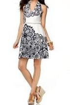 Nine West Petite Dress Sz 8P  White Blue Sailboat Halter Cotton Casual S... - $53.91