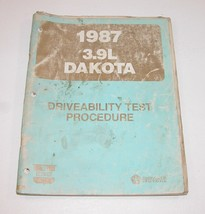1987 Dodge Dakota 3.9L Driveability Test Procedures Manual USED CONDITION - $12.82