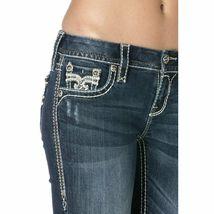 Rock Revival Women's Premium Boot Cut Light Denim Jeans Pants Royal B202 image 4