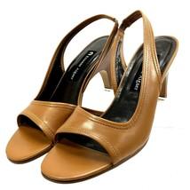 Etienne Aignier Women's Caramel Leather Slingback Shoe Sz 7M - New in Box - $18.78