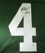 BRETT FAVRE / NFL HALL OF FAME / HAND SIGNED GREEN BAY PACKERS CUSTOM JERSEY COA image 3