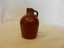 "Miniature Brown Ceramic Pottery Moonshine Jug With Handle, 4.5"" Tall - $34.65"