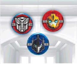 Transformer 4 Core Honeycomb Hanging Decorations 3 Count Party Supplies New - $7.18