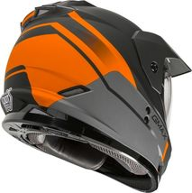 New XL GMax GM-11 Scud Matte Black/Orange/Gray Dual Sport Adventure Helmet DOT image 4