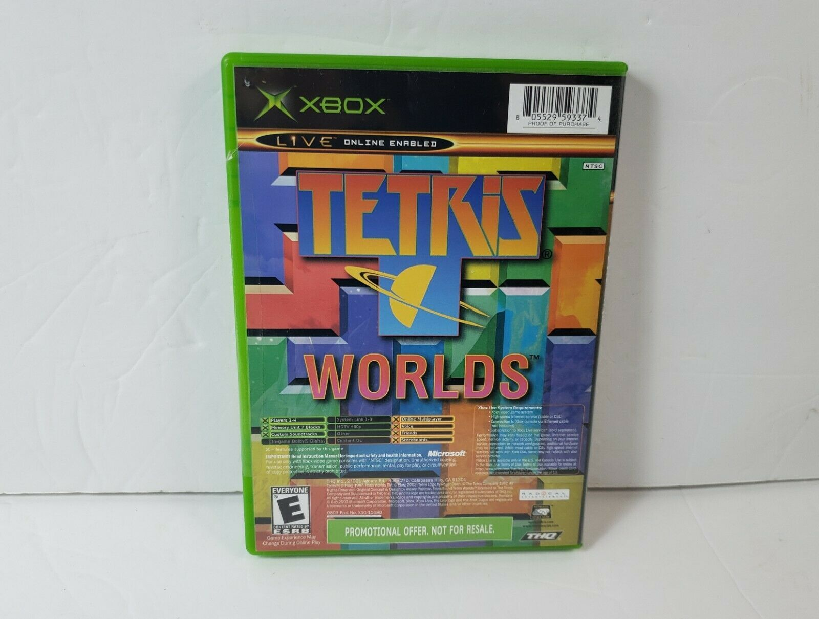 Star Wars: The Clone Wars / Tetris Worlds (Microsoft Xbox, 2003) Not for Resale image 2