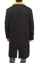 Mens Officer K Fur Lapel Blade Cotton Runner Black Ryan Long Length Coat image 3