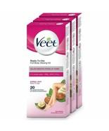 Veet Full Body Waxing Kit for Normal Skin - 20 Strips (Pack of 3) - $30.00