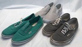 Lot of 3 Vans Low Top Skater Sneaker TC6D Shoes Women's 8.5 Canvas Lace,... - $39.99