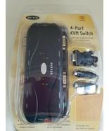 Belkin 4-Ports External KVM switch PS/2  VGA platform ( F1DJ104P-B) New - $74.24