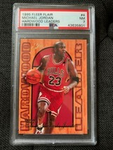 1995 95-96 Fleer Flair Hardwood Leader Michael Jordan #4 Insert Graded P... - $29.40