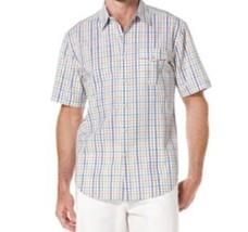Cubavera Mens Shirt Sz S White Multi Plaid Cotton Short Sleeve Button Down  - $35.17