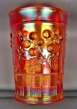 CARNIVAL GLASS - NORTHWOOD RASPBERRY Pastel Marigold Tumbler 4061 - $27.00