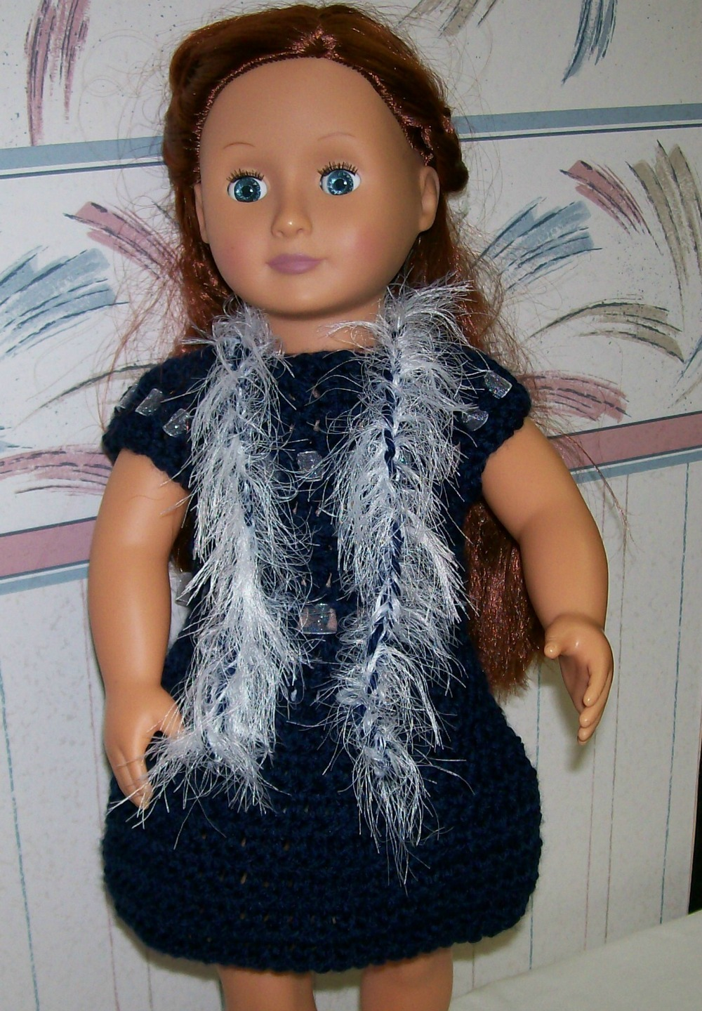 Primary image for American Girl Boa, Crochet, Handmade, 18 Inch Doll