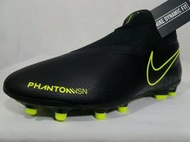 Nike Phantom Vision DF MG Soccer Cleats Sz 7.5-10 Women's Black Volt AO3258-007 - $39.99