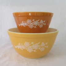 Pyrex, Butterfly Gold, 401 & 402 Mixing Bowls, Mixers, Redesign - $22.00