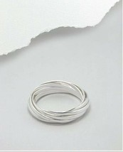 Russian Rolling Ring Nine Band Sterling Silver Sz 8 - $34.00