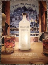 Absolut Winter Vanilla Bluff Magazine Ad - $3.99