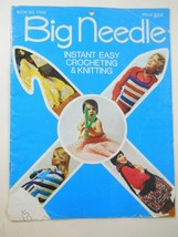 Big Needle Instant Easy Crocheting & Knittting Book No. 17580 - $6.93