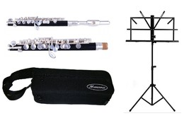 CHRISTMAS-SALE!Band Approved SKY Silver Piccolo w Gold Keys *Special EDITION*