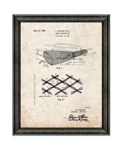 Shrimp Trawling Net Patent Print Old Look with Black Wood Frame - $24.95+