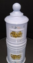 Akro Agate Baby Blue Milk Glass Depression Era Apothecary Style Powder Jar - $29.00