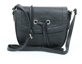 Nine West NWT Black Bohemian Beltway Medium Crossbody Bag Pebbled nwt - $12.66