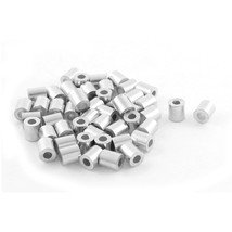 UXCELL 50Pcs Aluminum Cable Stops Sleeves For 2Mm Wire Rope Swage Clip - $15.95