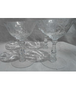 HEISEY NARCISSUS CRYSTAL CHAMPAGNE/TALL SHERBERT GLASSES 4 SET CUT 3408 965 - $39.59
