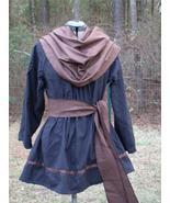 Renaissance Mens Tunic LARP SCA Costume Black Grey Lg/XL - $32.00