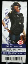 Colorado Rockies vs Cincinatti Reds MLB Ticket w Stub 07/28/2012 Year Fan - $8.17