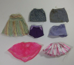 Vintage Barbie Doll Clothing Bottoms Lot Mattel 7 Piece Skirts Shorts Damaged  - $9.99