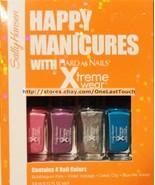SALLY HANSEN* 4pc XTREME WEAR Mini Nail Polish Set HAPPY MANICURES Hard ... - $6.30