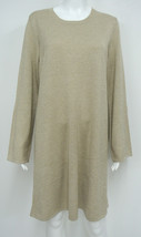 NWT $130 MICHAEL KORS Oatmeal Heather Shimmer Sweater Dress Size XL  - $49.95